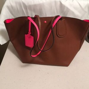 Coach neon leather bag